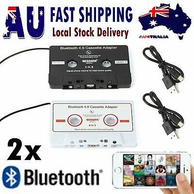 2x Bluetooth Car AUX Audio Cassette Tape Adapter Receiver for iphone Android MP3