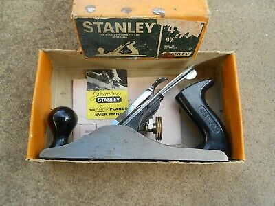 """Vintage Stanley Plane No4  9 3/4"""" In Box With tag Very Clean Made in Australia"""