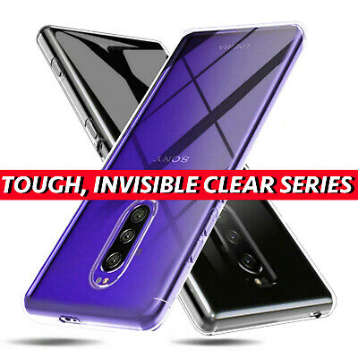 For Sony Xperia 1 / One ITEC Clear Gel Case + Tempered Glass Screen Protector