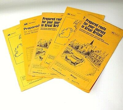 Aa Route Map Directions VINTAGE PREPARED AA Route Planner Map, Torquay to Norwich   £4.99