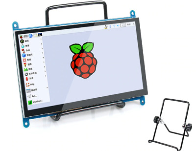 """7.0"""" Inch 1024x600 Raspberry Pi Capacitive Touch Screen LCD Display HDMI Monitor"""