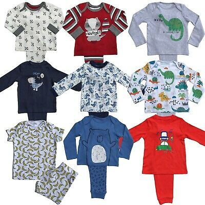 Boys Baby Ex Store Pyjamas Pjs Pj Set 2 & 3 Packs Long Sleeve / Short Sleeve