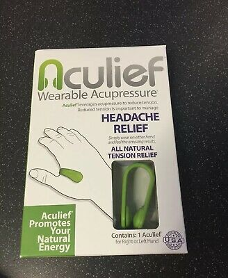 Aculief Wearable Acupressure, (Colour: Green) Single Pack