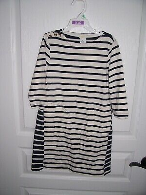 Girls Black/White Striped Dress - Size 7 - CrewCuts Brand - New with Tags