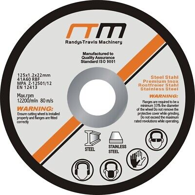"100 x 125mm 5"" CUTTING DISC WHEEL for ANGLE GRINDER - Grinder Disk Blade"