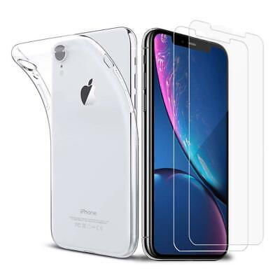 iLiebe Hulle iPhone XR + Panzer Glass Set, [1 Hulle+2 Panzer...