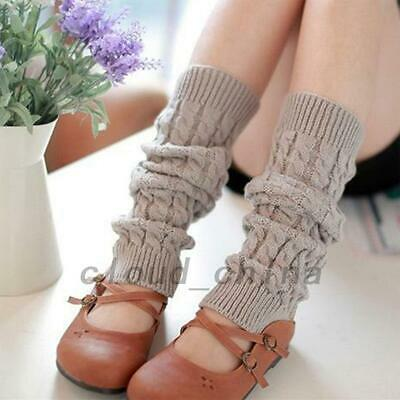2 Pairs Cable Knitted Leg Warmers Crochet Winter Warm Crochet Boot Cuff Socks