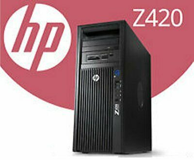 HP Z420 Hexa 6 Core 3.80Ghz/3.20Ghz 32GB Ram 500GB SSD/Solid State Win10-Pro