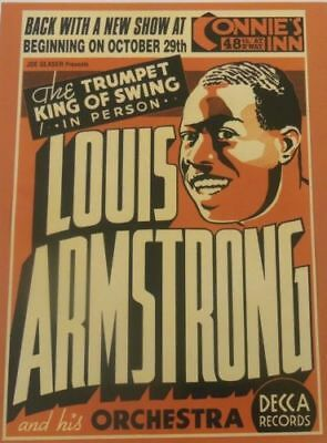 Louis Armstrong  CONCERT VINTAGE JAZZ MUSIC  PRINT 18X24 POSTER