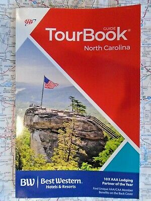 AAA NORTH CAROLINA NC TourBook Tour Book Travel Map Vacation Guide '19 Road Trip