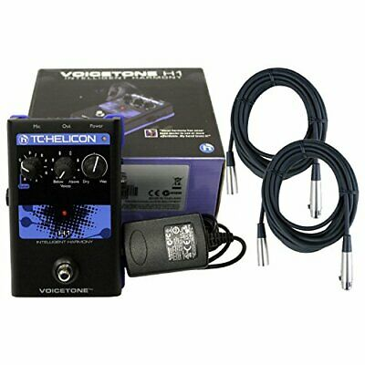 TC-Helicon VoiceTone H1 Vocal Harmony Effect Pedal +Power Supply+2 Free 20' XLR