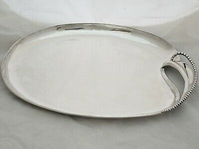 """RARE Mexican Sterling Silver 16"""" Tray by ANTONIO PINEDA Taxco Mexico 35.84ozt"""