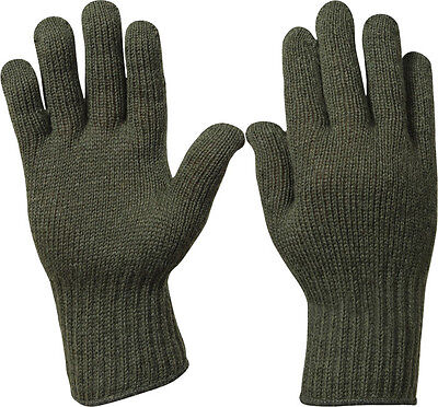 Olive Drab Military Flexor D-3A Wool Glove Liners USA Made