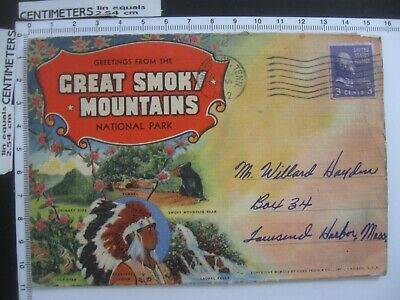 Greetings from Great Smoky Mountains National Park TN Vintage Souvenir Folder