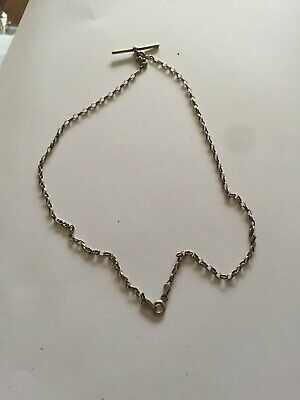 Hallmarked 925 Italy Sterling Silver Pocket Watch Chain 5.2g