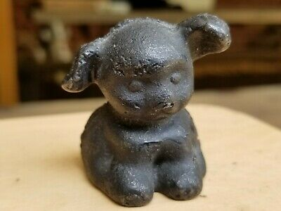 Vintage antique Hubley cast iron Fido dog paperweight