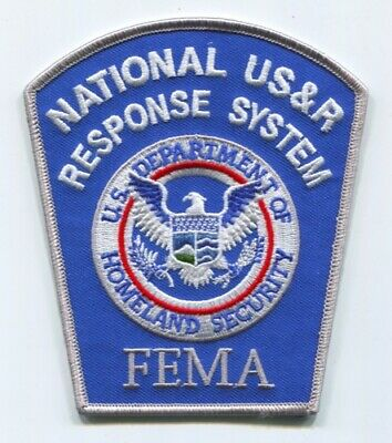National USAR Response System NDMS Federal Emergency Management Agency FEMA Patc