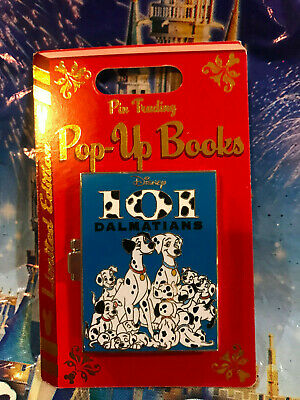 Disney Parks Pop-up Books 101 Dalmatians Pin LE 4000 ~New In Hand~ 2019