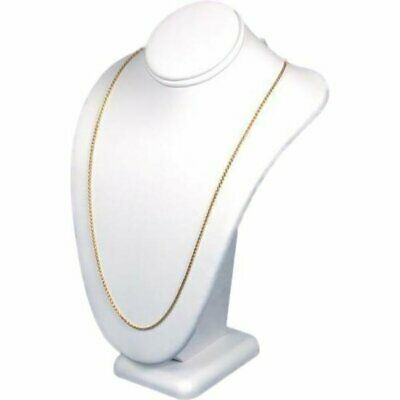 Findingking Necklace Bust White Leather Jewelry Showcase Display Kit