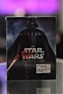 Star Wars: The Complete Saga (Blu-ray Disc, 2011, 9-Disc Set, Boxed Set) NEW