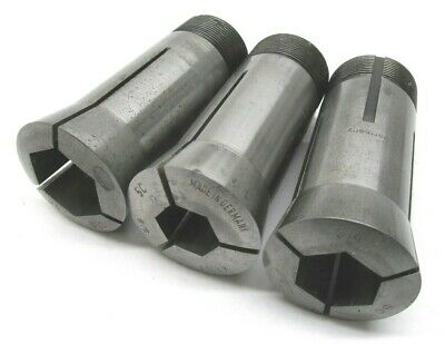 "Germany! 3 Assorted Hex 5C Collets - 5/8"", 3/4"", 7/8"""