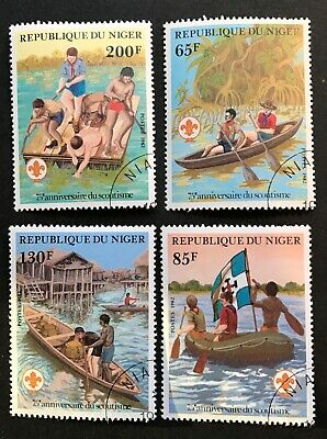 Niger stamps lot of 4 Boy Scouts 1982         Ap