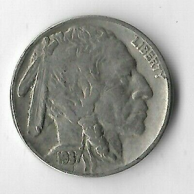Rare Very Old Antique 1937 US Buffalo Indian Nickel Collection Coin USA 5 Cent