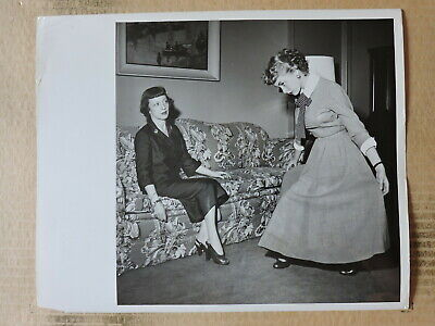 Janet Leigh learning to curtsey original candid photo by Traxel 1952
