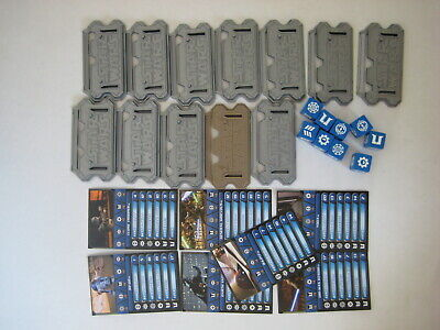 Star Wars Galactic Battle game LOT card stand dice vtg Hasbro figure clone parts