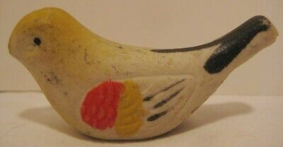 Old Unusual Clay Songbird Whistle - Japan