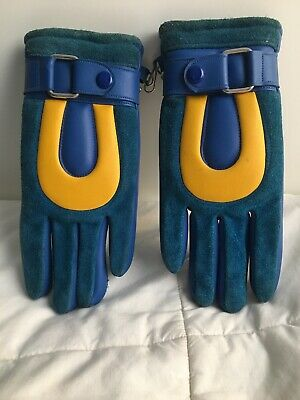 Ultra Rare Vintage Womens Leather Winter Gloves From The 60's