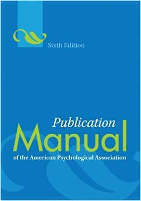 Publication Manual of the American Psychological Association 6th Edition {P.D.F}