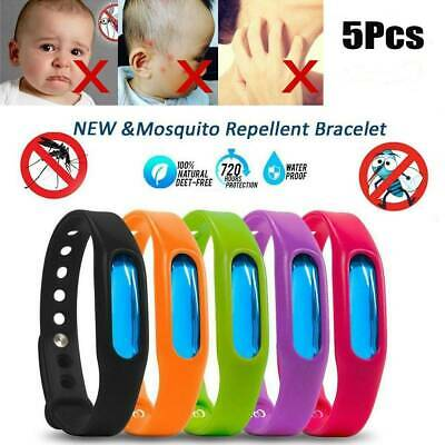 5PCS Anti Mosquito Pest Insect Bug Repellent Wrist Band Bracelet Outdoor Camping