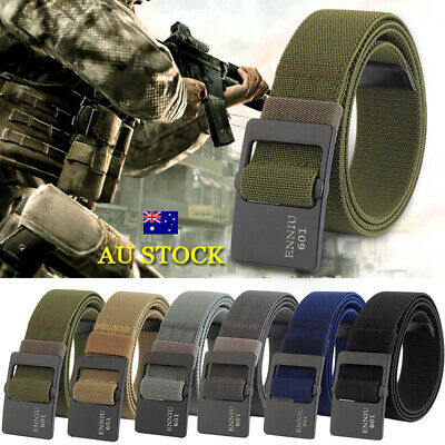 Men's Outdoor Sports Military Tactical Belts Nylon Canvas Waistband Adjustable