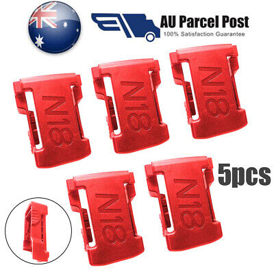 5pcs Battery Mounts for MILWAUKEE 18V M18 Storage Holder Shelf Rack Stand Slots