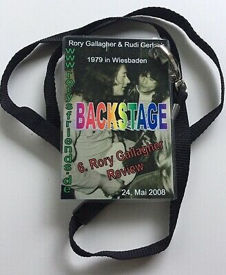 Rory Gallagher - 6th German Tribute Concert, Wiesbaden -May 2008 -Backstage Pass