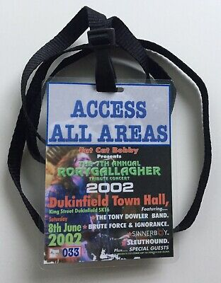 Rory Gallagher - 7th Annual British Tribute Concert - June 2002 - Backstage Pass