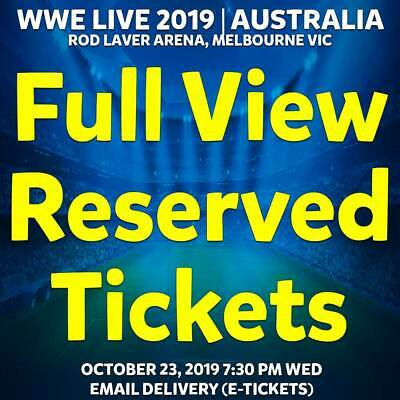 Wwe Live Australia 2019 Tickets Melbourne | Full View Bronze Reserve Wed 23 Oct