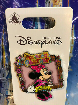 Hong Kong Disneyland Ice Cream Fantasy Minnie Mouse Pin~NEW in Hand~ 2019 HKDL