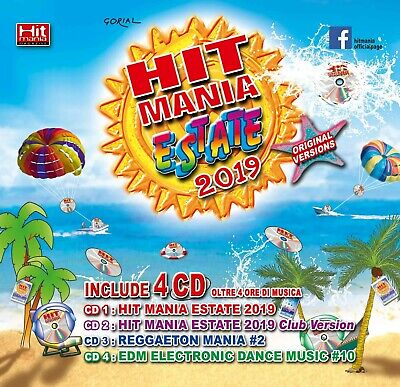 Hit Mania Estate 2019 Box 4 Cd Compilation by MaPina Dance