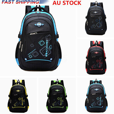AU Children Kids Waterproof School Backpack Boy Girls Travel Rucksack Handbag
