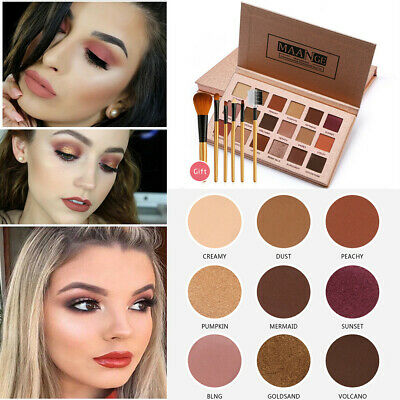 Eyeshadow Makeup Concealer Palette Professional Eye Shadow + 6Pcs Makeup Brush