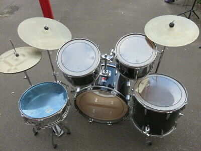 Vintage Premier Royale Drum Kit With Paiste Cymbals. Made In England.