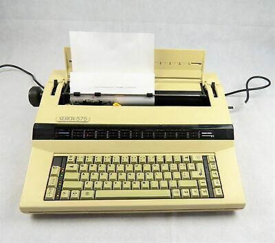 Xerox 575 Electric Typewriter in Case Vintage Working