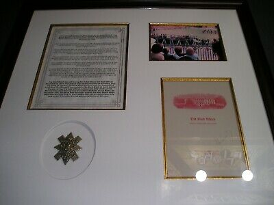 President John F. Kennedy Signed Black Watch Program Framed Display
