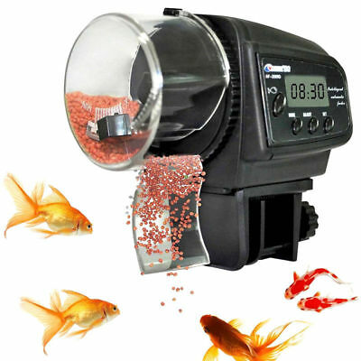 NEW LCD Digital Automatic Aquarium Fish Food Feeder Dispenser Timer Flake