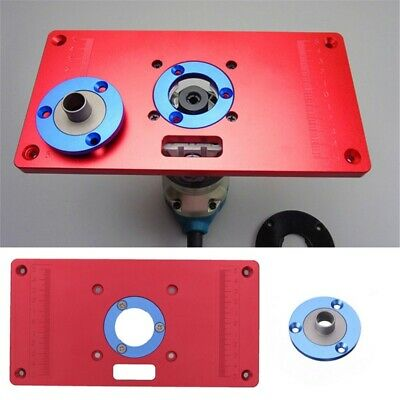 Pro Aluminum Router Table Insert Plate Ring Kit For Woodworking Bench Trimmer