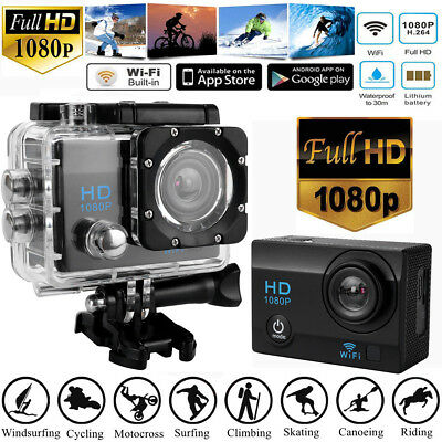"""Full HD 1080P Waterproof DVR 2"""" Sports Camera WiFi Cam DV Action Camcorder US ST"""