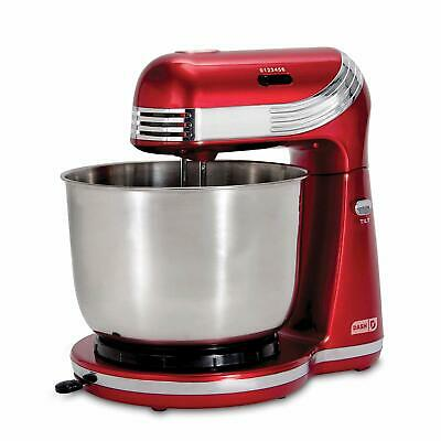 Portable Electric Stand Mixer Beater Machine Bread Cake Dough Maker Cooking Red