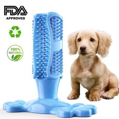 Dog Toothbrush Chew Stick Cleaning Toy Silicone Pet Brushing Oral Dental Care-US